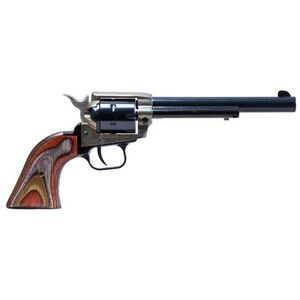 """Heritage Rough Rider """"The Jonny Boy"""" Revolver .22 Long Rifle 6"""" Barrel 6 Rounds Wooden Grips Case Hardened Frame Blued RR22CH6"""