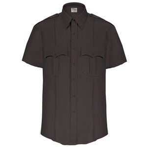 Elbeco Textrop2 Men's Short Sleeve Shirt Neck 20 100% Polyester Tropical Weave Black