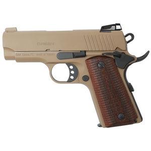 "EAA GiRSAN MC1911SC Officer Model 9mm Luger Semi Auto Pistol 3.4"" Barrel 7 Rounds Adjustable Rear Sight Ambidextrous Safety FDE Finish"