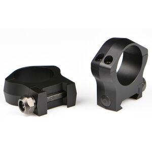 Warne Mountain Tech Weaver/Picatinny Ring 30mm Low Height Aluminum Matte Black