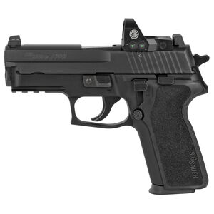 """SIG Sauer P229 RX Compact 9mm Luger Semi Auto Pistol 3.9"""" Barrel 10 Rounds Tall SIGLite Night Sights with Romeo 1 Reflex Optic Alloy Frame Matte Black Finish"""