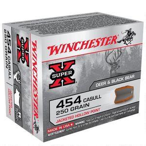 Winchester Super X .454 Casull Ammunition 200 Rounds, JHP, 250 Grain