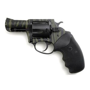 """Charter Arms Model 24420 Bulldog Revolver .44 Special 2.5"""" Barrel 5 Rounds Rubber Grips Black and Tiger Finish"""