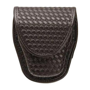 BLACKHAWK! Handcuff Pouch Synthetic Leather Basketweave Black