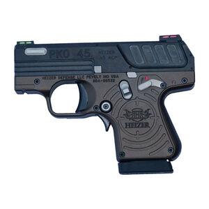 "Heizer Defense PKO-45 .45 ACP Semi Auto Pistol 2.75"" Barrel 7 Rounds Fixed 3-Dot  Sights Stainless Steel Black Slide Spartan Frame"