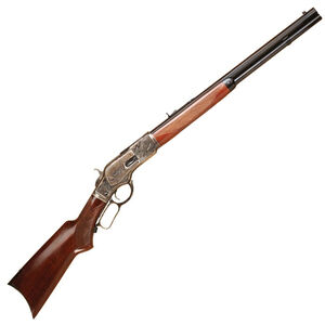 "Cimarron 1873 Deluxe Short Lever Action Rifle .357 Magnum 20"" Barrel 10 Rounds Case Hardened Receiver Walnut Stock Blued CA213"