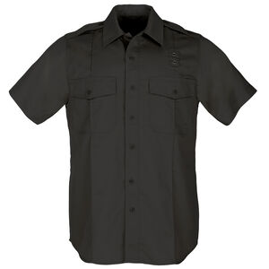 5.11 Tactical Class A Women's PDU Short Sleeve Shirt Polyester Cotton Twill Medium Black 61158