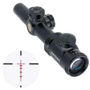 Riton RT-S Mod 3 Gen 2 1-4x24 Riflescope Illuminated BDC Reticle 30mm Tube .5 Inch Per Click 6061-T6 Aluminum Second Focal Plane Fixed Parallax Matte Black