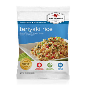 Wise Company Freeze Dried Food Pouch Teriyaki Rice Entrée 4 Serving Pouch