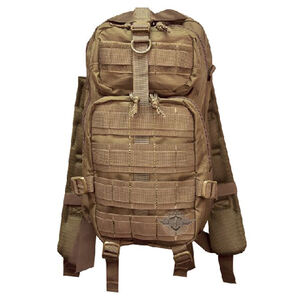 "5ive Star Gear 3TP-5S Level III Transport Backpack 18""x10""x9.5"" MOLLE Compatible Hydration Ready Synthetic Fabric Coyote"
