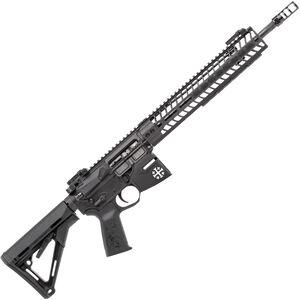 "Spikes Rare Breed Crusader 5.56 NATO AR-15 Semi Auto Rifle 16"" Barrel Crusader Helmet Billet Lower 12"" M-LOK Handguard Collapsible Stock Black Anodized Finish"
