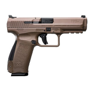 "Canik TP9SF 9mm Luger 4.46"" Barrel Long Slide 18 Rounds Polymer Frame FDE"