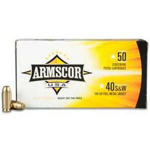 Armscor USA .40 S&W Ammunition 50 Rounds FMJ 180 Grains F AC 40-2N
