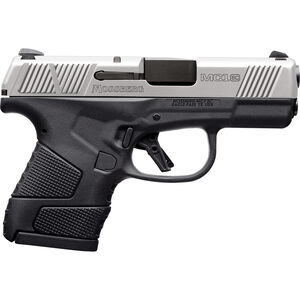 """Mossberg MC1sc 9mm Luger Subcompact Semi Auto Pistol 3.4"""" Barrel 7 Rounds 3-Dot Sights Manual Safety Polymer Frame Two Tone Stainless/Black Finish"""