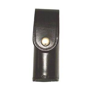 Stallion Leather Mk-3 Pepper Spray Holder Hi Gloss Nickel Snap Black