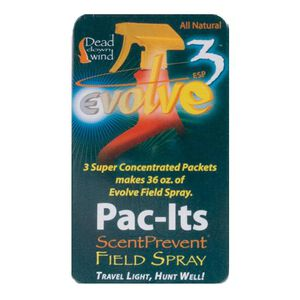 Dead Down Wind Scent Prevent Field Spray Pac-Its Concentrated Refill 3 Pack 1310