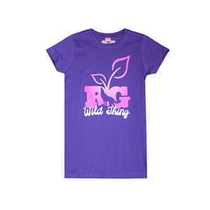 Realtree Girl Wild Thing Women's Short Sleeve T-shirt Fitted S/S Med Cotton Purple