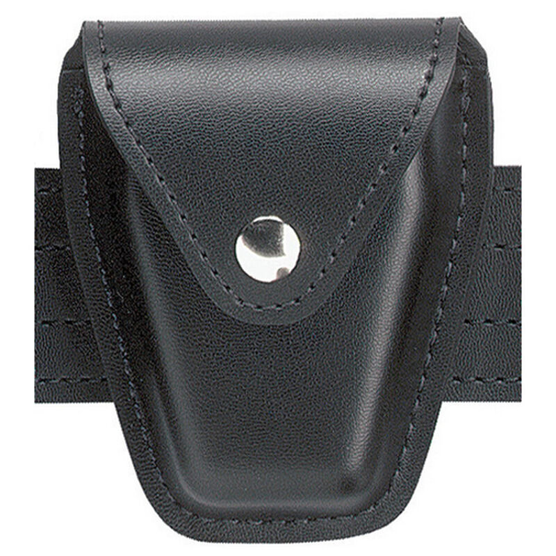 "Safariland Model 190 Handcuff Case 2.25"" Belt Fits Chain Cuffs Black Snap Nylon Look Black"