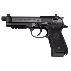 "Beretta 92FSR 9mm Luger Semi Auto Pistol 4.9"" Threaded Barrel 10 Rounds Fixed Suppressor Height Night Sights Aluminum Alloy Frame Matte Black"