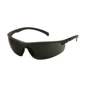 Pyramex Shooting Glasses Smoke Green Lens Black Frame DUSB6628D