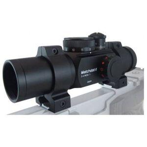 Ultradot Matchdot II Red Dot Sight Dual Reticle BDC 1 MOA with Rings Black MATCHDOT2