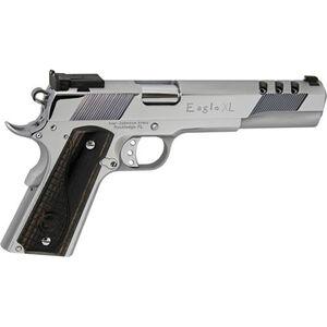 "Iver Johnson Eagle XL Ported 1911A1 10mm Auto Semi Auto Pistol 6"" Barrel 8 Rounds Ported Barrel and Slide Walnut Grips Chrome Finish"