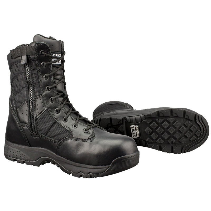 "Original S.W.A.T. Metro Safety Boots 9"" Waterproof Side Zip Leather/Nylon Rubber Size 12 Regular Black 129101-12.0/EU46"