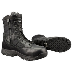 "Original S.W.A.T. Metro Safety Boots 9"" Waterproof Side Zip Leather/Nylon Rubber Size 5.5 Regular Black 129101-05.5/EU37.5"