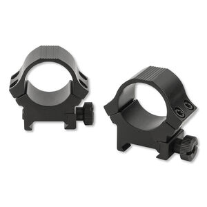 "Sun Optics USA Sport Rings 1"" Medium Standard Dovetail Aluminum Black"