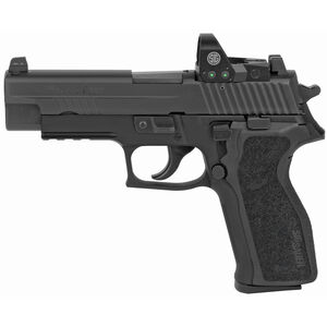 "SIG Sauer P226 RX Full Size 9mm Luger Semi Auto Pistol 4.4"" Barrel 10 Rounds Tall SIGLite Night Sights with Romeo 1 Reflex Optic Alloy Frame Matte Black Finish"