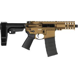 "CMMG Banshee 300 Mk4 9mm Luger AR-15 Semi Auto Pistol 5"" Barrel 30 Rounds Uses ARC Magazines RML4 M-LOK Handguard CMMG Micro/CQB RipBrace Burnt Bronze Finish"