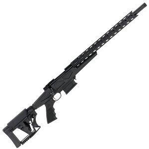 "Howa Australian Precision Chassis Bolt Action Rifle 6.5 Creedmoor 24"" Heavy Barrel Threaded 10 Round DBM Luth-AR MBA-4 Adjustable Stock Matte Black"