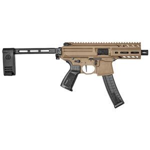 "SIG Sauer MPX K 9mm Luger Semi Auto Pistol 4.5"" Barrel 30 Rounds Timney Trigger SIG PCB Pistol Stabilizing Brace Cerakote Finish Coyote Brown"