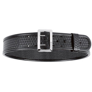 "Bianchi Model 7960 Sam Browne Belt 2.25"" Wide Size 36 Brass Buckle Leather Hi-Gloss Black"