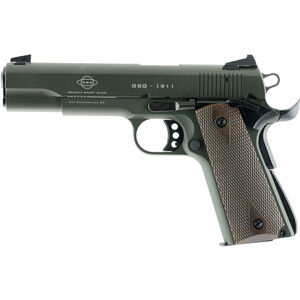 """American Tactical Imports GSG 1911 Semi Automatic Pistol 22 LR 5"""" Barrel 10 Rounds Alloy Frame OD Green"""