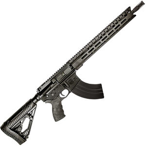 "Diamondback Firearms DB15 AR-15 Semi Auto Rifle 7.62x39mm 16"" Barrel 28 Rounds 15"" M-LOK Free Float Hand Guard HexMag Pistol Grip/Adaptive Tactical EX Stock Black"