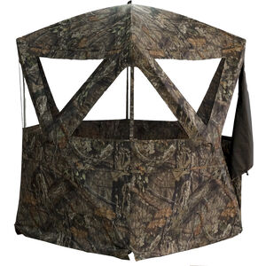 "Rhino Blinds Rhino-300 Hub Style Portable Ground Blind 77""x77"" Hub-to-Hub 78"" Tall MOBUC Camo"