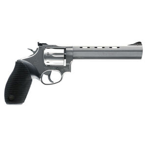 """Taurus Tracker 17 Double Action Revolver .17 HMR 6.5"""" Barrel 7 Rounds Fixed Front Sight/Adjustable Rear Sight Ribber Grip Matte Stainless Steel Finish"""