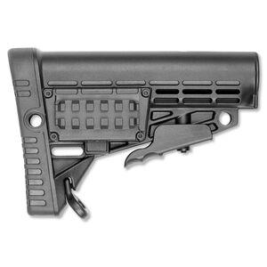 CAA CBS AR-15 Collapsible AR Buttstock Commercial Diameter Polymer Matte Black