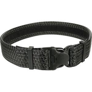 """BLACKHAWK! Reinforced Duty Belt 2"""" Width Size 38-48 Waist Synthetic Leather Basketweave Black"""