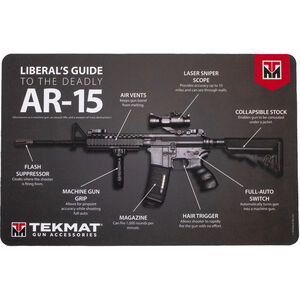 "TekMat Armorers Bench Mat, Liberals Guide, Neoprene, Black, 11""x17"""
