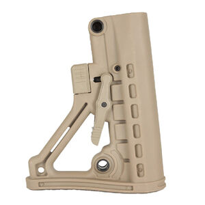 JE Machine Tech AR-15 Mil-Spec Skeleton A Frame Adjustable Buttstock Polymer Tan