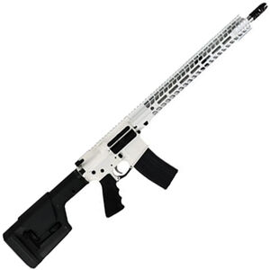 """Stag Arms STAG-15 Valkyrie Semi Auto Rifle .224 Valkyrie 18"""" Stainless Steel Heavy Barrel 25 Rounds Stag-15 M-LOK SL Freefloat Handguard Magpul Fixed Rifle Stock Cerakote White with Black Accents"""