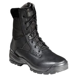 """5.11 Tactical A.T.A.C. 8"""" Side Zip Boots Leather Nylon 10.5 Regular Black 12001"""
