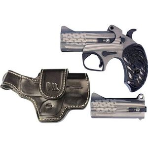 """Bond Arms Old Glory Package .45 LC/.410 Bore and .357 Mag/.38 Special Derringer 3.5"""" Barrels 2 Rounds with Driving Holster Wood Old Glory Grip American Flag Finish"""