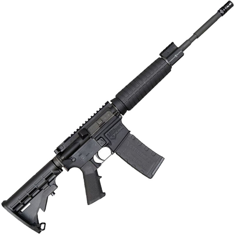 "ATI MILSPORT AR-15 Semi Auto Rifle 5.56 NATO 16"" Barrel 30 Rounds Aluminum Receivers Nano Composite LPK Collapsible Stock Black"