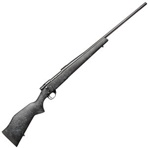 """Weatherby Vanguard Wilderness Bolt Action Rifle .308 Winchester 24"""" Fluted Barrel 5 Round Capacity Synthetic Monte Carlo Aluminum Bedded Gel Coat/Spiderweb Stock Matte Bead Blasted Blued Finish VLE308NR4O"""