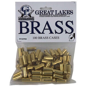 Great Lakes Bullets and Ammunition .38 Super New Unprimed Brass 100 Pack B687719