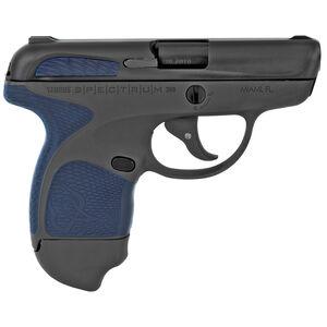 "Taurus Spectrum Semi Auto Pistol .380 ACP 2.8"" Barrel 6/7 Round Magazines Low Profile Fixed Sights Polymer Frame Dark Blue Accents/Black Slide/Grey Frame"