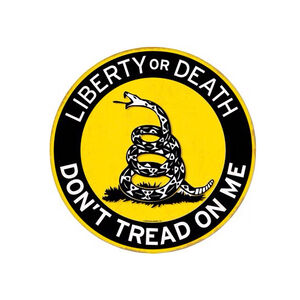 "Open Road Brands Don't Tread On Me Tin Sign 11"" Diameter"